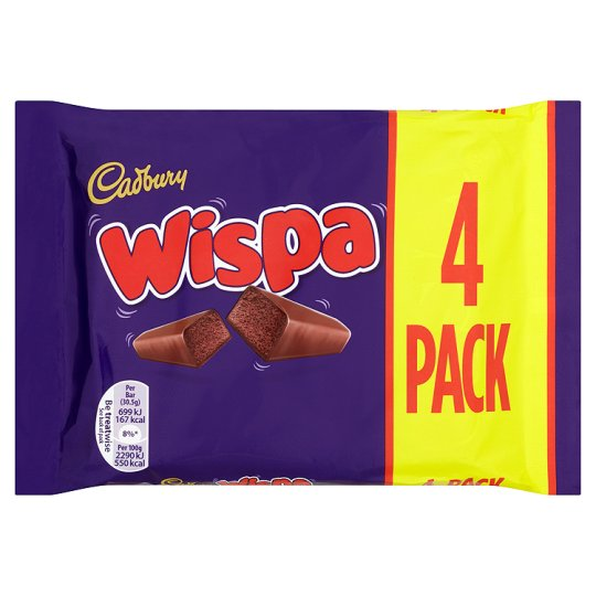 Cadbury Wispa szelet 4db 102g