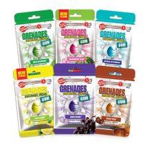 Grenades Gum-Extrém mentolos rágógumi 5db-os szőlős