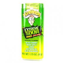 Warheads extrém savanyú cukorka 49g. ( műanyag dobozkában)